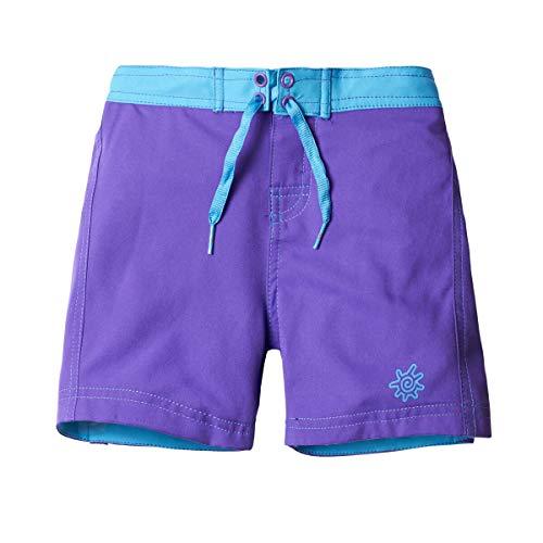 UV SKINZ UPF 50+ Girls' Board Shorts - Purple - 5