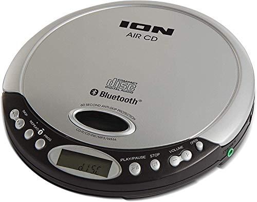 ION Audio Air CD Schmaler, Tragbarer CD-Player mit Bluetooth-Streaming, Kopfhörerausgang und optionalem Batteriebetrieb