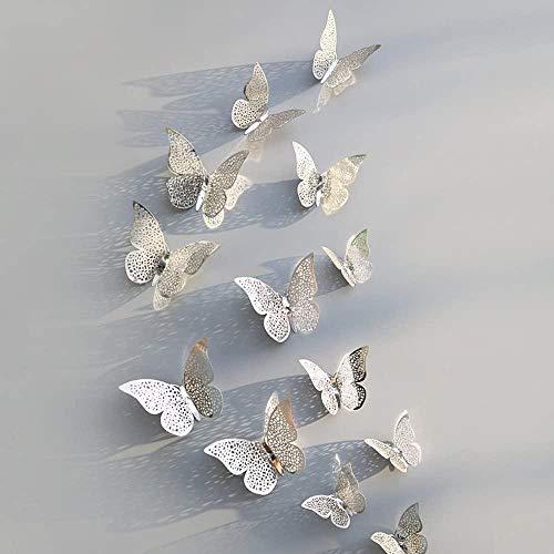 zeenca 12 Pegatinas Mariposas Para Pared DiseñO Arte Hueco coracióN Nevera Autoadhesiva Bricoje Papel Tapiz ExtraíBle CalcomaníA Vinilo 3d El Hogar Sa Estar Citas-Pta 2