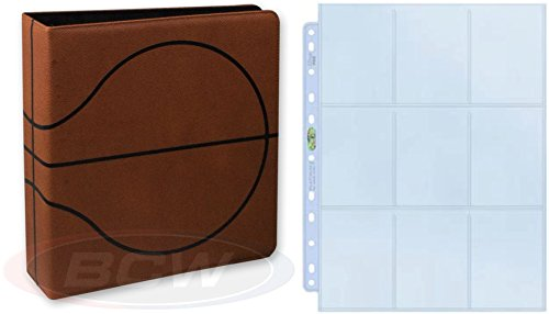 BCW Premium 3-Ring Binder with 25 Ultra Pro Platinum Pages for Basketball Cards