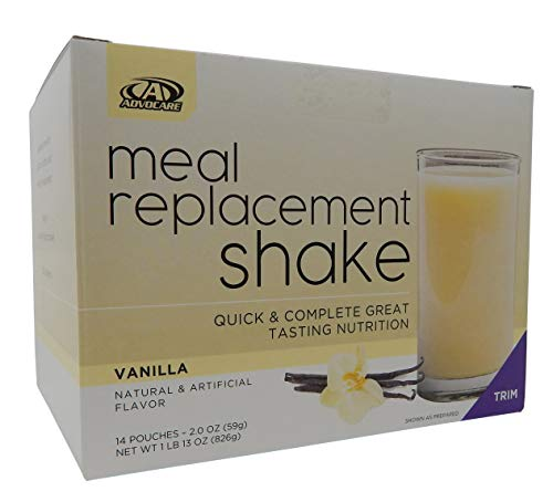 commercial advocare protein powder Advocare Meal Replacement Shakes, Vanilla, 14 oz (2.01 oz)