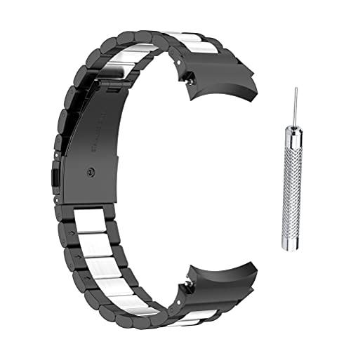 spier Bandas compatibles para Samsung Galaxy Watch4, acero inoxidable 40/44 mm Galaxy Watch 4, correas de repuesto clásicas de 46 mm/42 mm