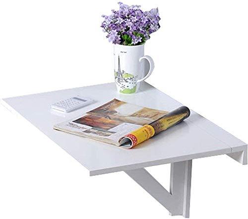Plegable.ahorro de espacio.Saludable y environment Madera blanca Mesa plegable de pared de escritorio del hogar ahorro de espacio de estudio del niño turística, Color: 40 * 60cm Decir adiós al aburrim