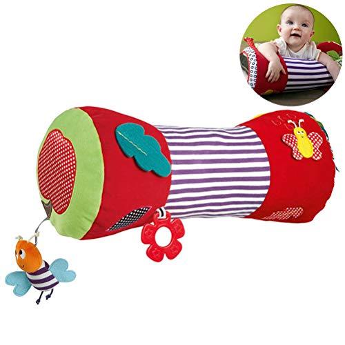 Pywee Krabbelrolle Baby Motorikspielzeug Kissen, Stoff-Rolle mit verschiedenen Spielmöglichkeiten für Babys und Kleinkinder 40 * 12 * 18CM