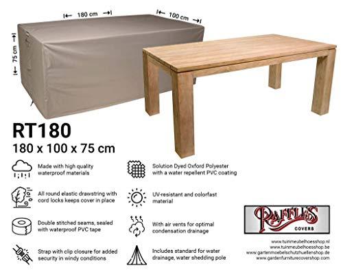 Raffles Covers NW-RT180 Rechthoekige tuintafel 180 x 100 H: 75 cm Cover voor tuintafel, Outdoor cover voor tafel, Cover voor terrastafel