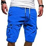 Short de Sport Homme Court Running Casual Pantalons Cargo d'été pour Homme Sport Slim Fit Taille...
