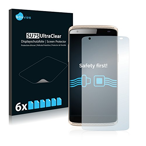 Savvies 6X Schutzfolie kompatibel mit ZTE Axon Mini Bildschirmschutz-Folie Ultra-transparent