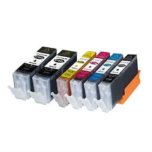 win-tinten Confezione da 6 cartucce d'inchiostro PGI-570XL CLI-571XL compatibile per Canon PIXMA MG5700 MG5750 MG5751 MG6850 MG6851 TS5050 TS5051 TS6050 (2 PGBK, 1 nero, 1 ciano, 1 magenta, 1 giallo)