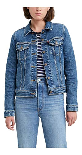 Levi's Women's Plus Size Original Trucker Jacket, Blue Charmer, 1X