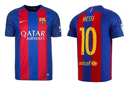 F.C. Barcelona Trikot Kinder 2016-2017 Home Qatar - Messi 10 (140)