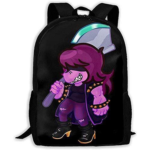AOOEDM Big-Capacity Unisex Adult Backpack Delta-Rune-Susie Bookbag Travel Bag Schoolbags Laptop Bag