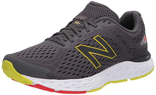 New Balance Men's 680 V6 Running Shoe, Magnet/Phantom, 13 XW US