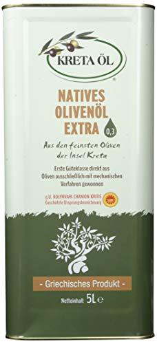 Kreta Öl Extra Natives Olivenöl 0, 3{9b17bc5af46463e6dc53d12fa822c8771b971fc869654d8125a7e2a7c1eb5405}, 5 l