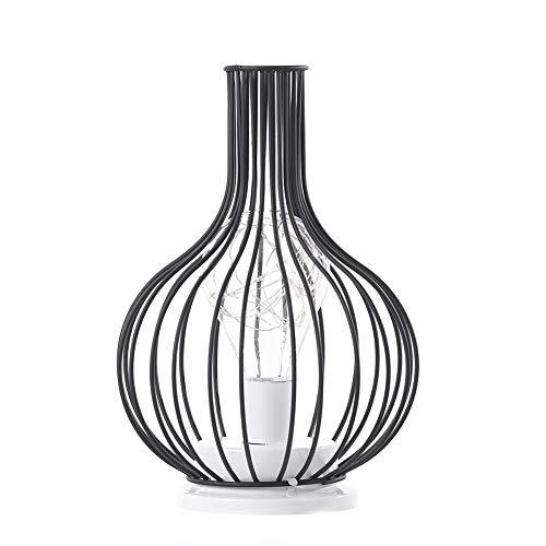 LED Tischleuchte, Vase Raumdekoration Lampe, Klassisch Elegante Tischlampe, Schmiedeeisen Flasche(ohne Batterie)