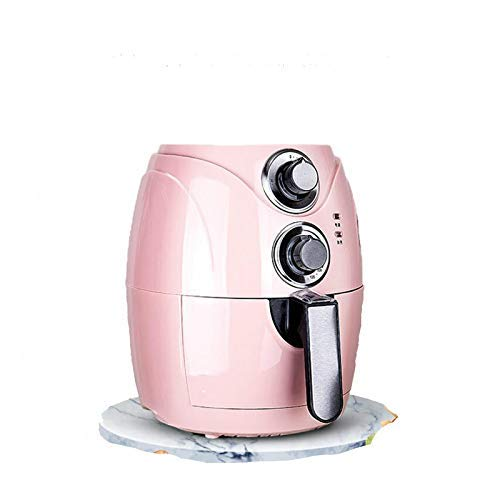 Wghz 2.5L Automatic Fryer Air Fry Fries Machine Household Mini Air Fryer Fully Automatic Intelligent No Fuel Electric Deep Fryer Oven UK Pink
