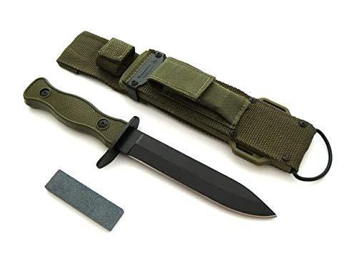 KOSxBO® U.S. Army Type Airborne - multifunctioneel SEK militaire mes met slijpsteen- tactisch vechtmes - USA mes 26,5 cm - mes met slijpsteen - origineel survivalmes