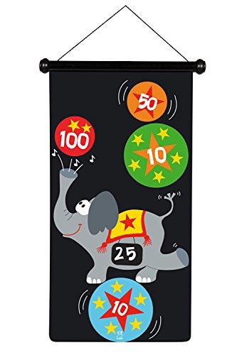 Scratch 6182009 6182009-Dartspiel für Kinder, Zirkus, groß, 70 x 36 cm, magnetisch