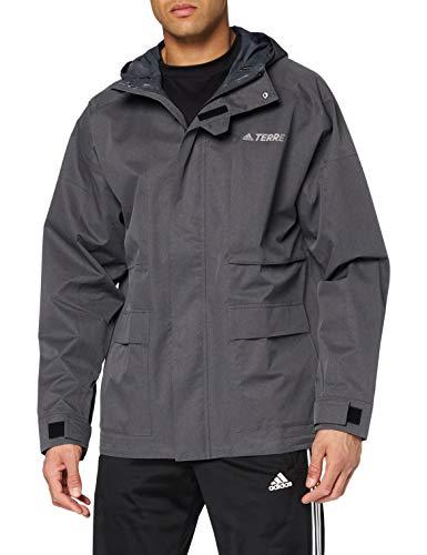 Adidas XPLR 2.5L R.R J, Giacca Sportiva Uomo, Dark Grey Heather, S