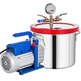 Bestauto 1 Gallon Vacuum Degassing Chamber Stainless Steel Degassing...