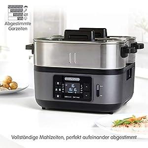 Morphy Richards 470006EE Der Dampfgar-Profi für Ihre Küche, 1600, Edelstahl, 6.8 liters