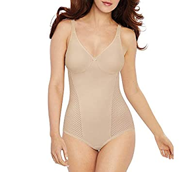 Bali Women's Passion for Comfort Minimizer Bodysuit, Soft Taupe, 42C