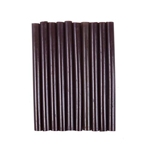 ZXF Pegamento termofusible 10pcs 100mm x 7 mm Adhesivo de Pegamento de fusión en Caliente para fusión en Caliente Pegamento Pistola marrón