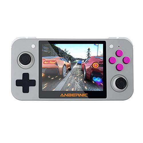 Goolsky RG350 Consola de Videojuegos Retro Reproductor de Juegos Portátil de 16 GB Pantalla IPS de 3,5 Pulgadas Salida de TV Soporte Recargable Tarjeta TF de 128 GB