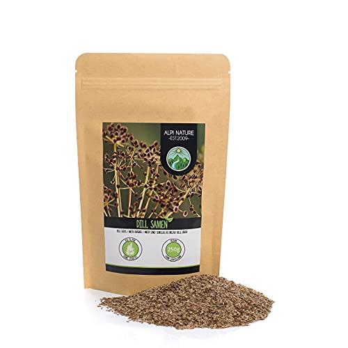 Semillas de eneldo (250g), semillas de eneldo 100% naturales, pepino, sin aditivos, vegano
