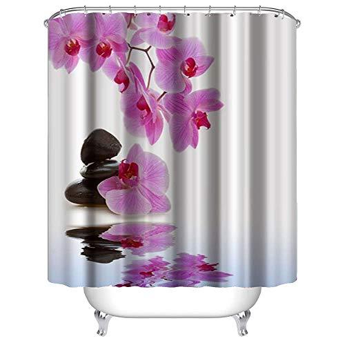 DreiN Duschvorhang 180x180 cm, wasserabweisend, Schimmel-resistent, waschbarer Badewanne Vorhang antibakterieller Stoff, wasserdicht aus Polyester.