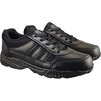 Action Shoes Boy's Black Synthetic Leather School Shoe -UK/India 1