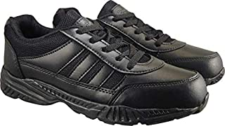 Action Shoes Synergy Boy's Black Synthetic School Shoes -UK/India 3
