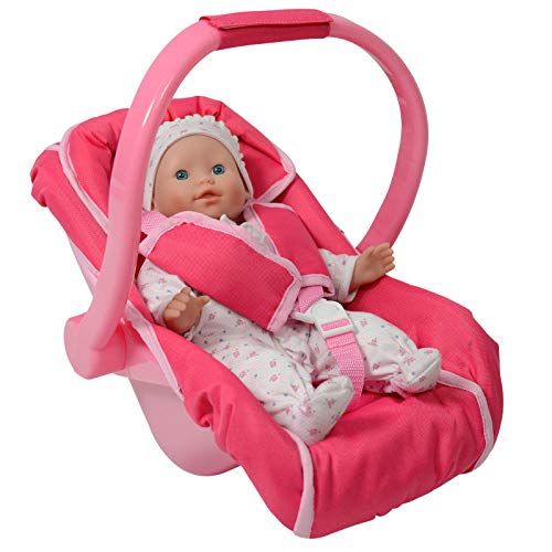 Unicorn Baby Doll car seat and Diaper Bag for Dolls -Great Baby Doll Accessories for Travel (Car Seat)