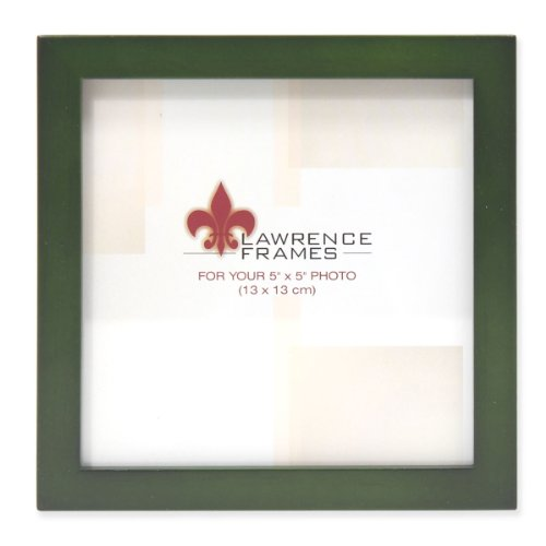 Lawrence Frames Collection Wood Picture Frame Gallery, 5 by 5-Inch, Green