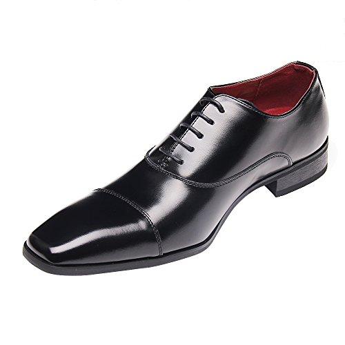 [Adolph] ビジネスシューズ 本革 メンズ 紳士靴 ZY-1001 (ブラック、ブラウン) 24.5cm-27.0cm (27.0, ブ...