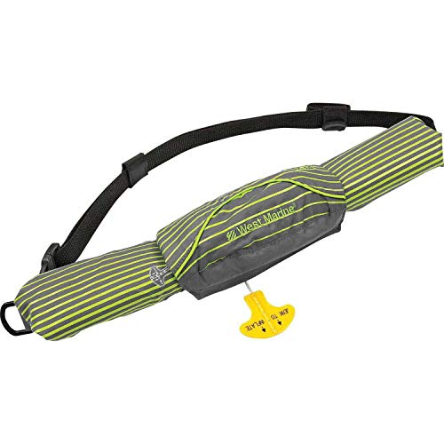 Mad Dog Products Onyx M-16 Manual Inflatable Belt Pack Made for West Marine - Grey/Neon Stripes