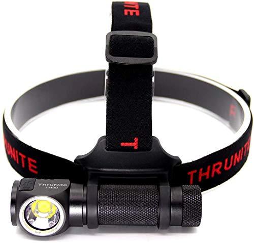 ThruNite TH30 Stirnlampe LED Wiederauflabar Superhell USB Kopflampe Wasserdicht 3000 Lumen Taschenlampe Leichtgewichts 6 Modi für Angeln, Camping, Outdoor, Joggen mit Akku IMR 3100 mAh - Neutralweiß