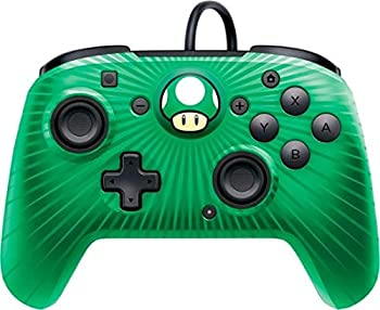 PDP Gaming Wired Pro Controller Faceplate  Mario Green - Nintendo Switch Faceoff