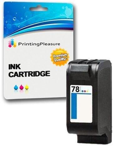 Printing Pleasure Color Cartucho de Tinta Compatible para HP Color Copier 180 280 Deskjet 1180c 1220c 1280 6120 9300 930c 959c 970cxi Fax 1220 Photosmart 1000 1115 | Reemplazo para HP 78 (C6578AE)