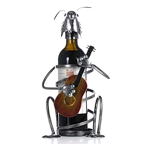 BANNESE Botelleros De Vino Unico Perro Guitarra Estante De Vino De Hierro Soporte De Exhibición Creatividad Artesanía De Metal Botelleros,para Inicio Sala De Estar Mesa De Comedor