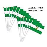 Durabol 12 Stück Handflagge Kommunionen aus Spanien (20 x 30 cm) Andalusien