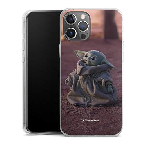 DeinDesign Slim Case extra dünn kompatibel mit Apple iPhone 12 Pro Max Silikon Handyhülle transparent Hülle Star Wars The Child Baby Yoda