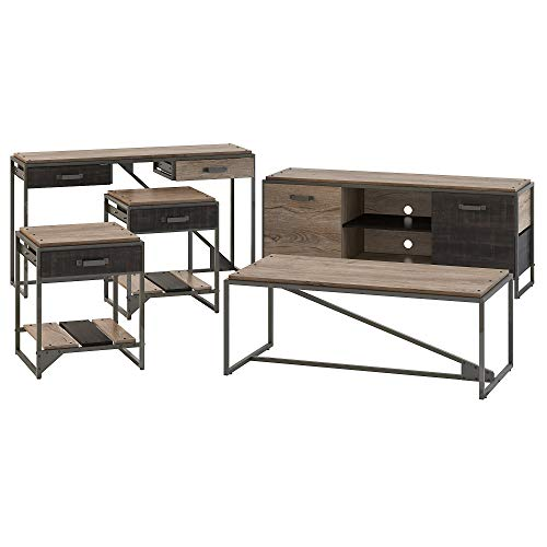 Bush Furniture Refinery 60W TV Stand with Console, Coffee...