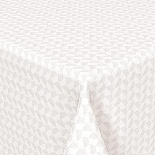 Venilia Mantel Jacquard Bilbao Redondo, Elegante Mantel con técnica de Tejido Especial, Mantel de Mesa, Impermeable, fácil de Limpiar, 1,6 x 1,6 m, Multicolor, 160 cm