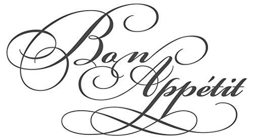 Wandtattoo Küchen Spruch Bon Appétit Schriftzug auf Englisch Wanddeko Esszimme
