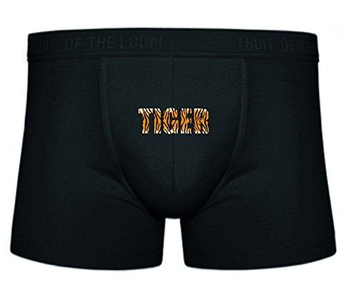 Druckerlebnis24 Boxershort ABSTRAKT- Tier- Kunst- Muster- Haut- Streifen- Text- Tiger- TYP- Typografie- WÖRTER S- XXL Sexy Unterhose Slip Shorts