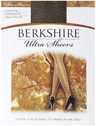 Berkshire Women s Ultra Sheer Control Top Pantyhose 4419 Reinforced Toe Off Black 4 product image