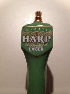 Harp Premium Lager Porcelain Pub Style 3 Sided Tap Handle 11.5