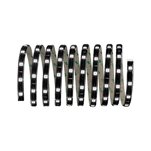 Paulmann 70594 YourLED Stripe 3 m RGB LED Strip Schwarz klar beschichtet Lichtband bunt 17,8W Lichtstreifen 550 Lumen Leuchtband 120 LED