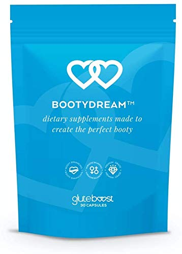 Gluteboost - BootyDream Butt Enhancement Pills - for Women - Natural Curve and Buttocks Enhancing Supplement - with Maca Root, Rose Hips, and Saw Palmetto - 2 Month Supply (1 Month)