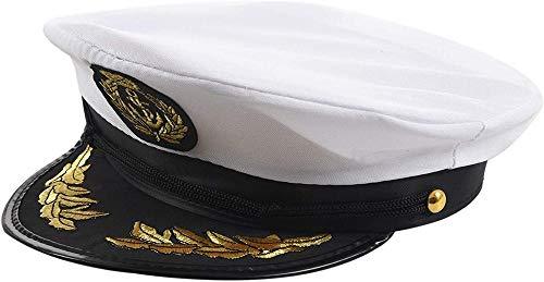 Hinleise Sombrero de capitn de barco de yate, gorra de marinero, disfraz de marinero